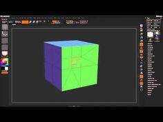 Zbrush Tutorial: ZBrush 4r7 ZModeler Poly Split - Part 15