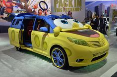 Toyota and Nickelodeon are advertising the upcoming SpongeBob Squarepants movie with an absolutely bizarre take on the customized Sienna minivan