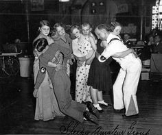 Last four couples standing in a Chicago dance marathon circa 1930's. This hilarious image was taken at the Merry Garden Ballroom, Chicago, Illinois,1931. Believed to be the longest recorded dance marathon in history. This particular contest began on August 29th 1929, and didn't stop until April 1st 1931!  Mike Ritof and Edith Boudreaux claimed first prize of $ 2,000 cash, and the marathon record. Unbelievably they danced for a total of 5,152 hours and 48 minutes!