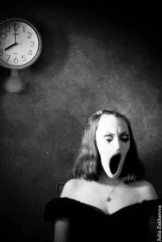 8 A Clock Horror Art, Creepy Horror, Arte Horror, Dark Art, Creepy Stuff, Creepy Art, Fun Stuff, Dark Photography, Creepy Photography