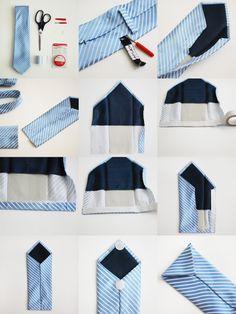 SOMETHiNG MONUMENTAL: No-Sew Necktie Wallet - great stocking stuffers for men