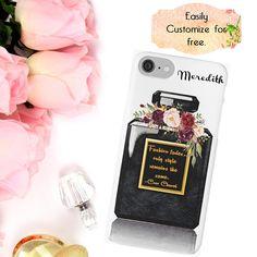 #Chanel #ChanelPhone #FashionAccessories Coco Chanel Fashion Quote iPhone Case Customized Phone Case