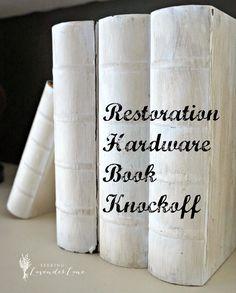 Restoration Hardware Book Knock Offs | Seeking Lavendar Lane