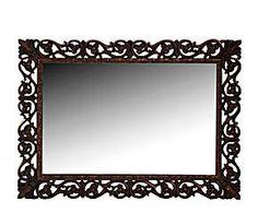 Espejo en poliuretano, horizontal – oro mate