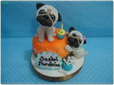 pug cake -