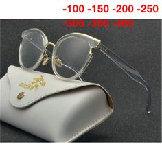 b392030cd060 Fashion Finished Myopia Glasses Women Oval Cat Frame Clear Lens Sighted Prescription  Glasses -1 -1.5 -2 -2.5 -3 -3.5 -4 NX Review
