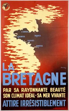 """""""Brittany: For her shining beauty, ideal climate, and dynamic sea – an irresistible pull"""" Breizh Ma Bro, Little Britain, Pub Vintage, Brittany France, Ville France, Railway Posters, Beaches In The World, Travel Memories, Cool Posters"""
