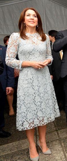 Crown Princess Mary of Denmarkin Japan2015-03-26