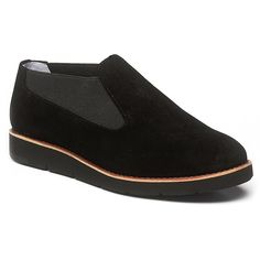 Add some sporty chic to your autumn and winter look with this easy suede slip-on. Elastic goring, cushioned insole and rubber sole deliver super comfort. Pair with patterned tights and skirts, or wear with cozy socks and wide-legged trousers. Features: Suede upper, elasticized side panels for custom fit, full leather lining, leather sock, fully padded insole with Memory Foam, J&M Flex System?, genuine leather welt, flexible lightweight rubber EVA outsole adds flexibility and comfort, 1