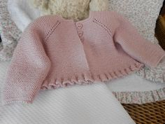 "diy_crafts- tutorial y patrón para hacer vestidito para bebé de 0 a 9 meses ""Discover thousands of images about Aunty Thatcher"", ""This post wa Baby Knitting Patterns, Baby Sweater Patterns, Knitting For Kids, Crochet For Kids, Baby Patterns, Quick Crochet, Free Crochet, Crochet Baby Jacket, Crochet Baby Clothes"