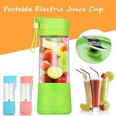 Premium Portable Electric Fruit Juicer Cup by Grill Lovers
