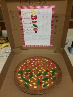 Our pizza fraction project Pizza Fractions, 3rd Grade Fractions, Fourth Grade Math, Dividing Fractions, Multiplying Fractions, Equivalent Fractions, Third Grade, Fraction Activities, Math Resources
