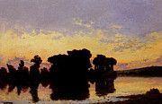 """New artwork for sale! - """" Delpy Jacques Henry Soleil Couchant Sur La Seine Pres Nantes by Hippolyte Camille Delpy """" - http://ift.tt/2q6TpGf"""