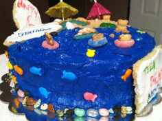 Beach Cake for five year old
