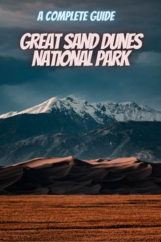 Here is a guide to Great Sand Dunes National Park. national parks USA   national park camping   state parks USA   best national parks #GreatSandDunesNationalPark #USAnationalparks #nationalparks Best National Parks Usa, National Park Camping, Rocky Mountain National Park, The Dunes, State Parks, Travel, Viajes, Destinations, Traveling