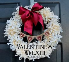 Simple, Elegant Valentine's Wreath by Adirondack Girl @ Heart