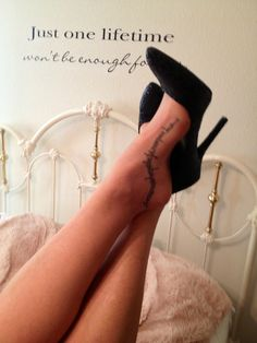 I will walk by faith not by sight, In French tattoo