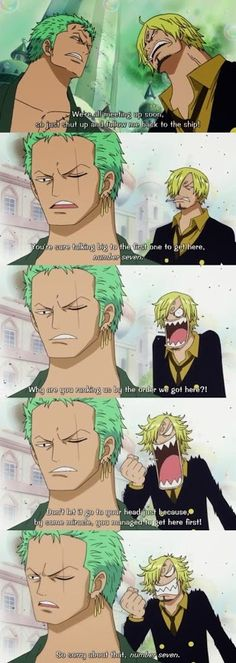 Zoro & Sanji.. My most favorite moment of there's hands down.