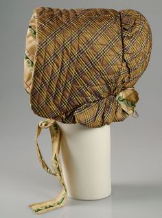 Bonnet Date: ca. 1840 Culture: American Medium: Silk Credit Line: Brooklyn Museum Costume Collection at The Metropolitan Museum of Art, Gift of the Brooklyn Museum, Gift of the Jason and Peggy Westerfield Collection, 1969 Accession Number: Silk Bonnet, Bonnet Hat, Antique Clothing, Historical Clothing, Historical Dress, Victorian Fashion, Vintage Fashion, 1800s Fashion, 19th Century Fashion