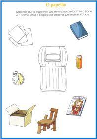 A colega Ana Amador  do JI de Sabugueiro  partilha connosco estas fichas de trabalho sobre a reciclagem .  (clique nas imagens para abrir)  ... Sistema Solar, Preschool Lessons, Recycling Bins, Pre School, Teaching, Crafts, Terra, Google Search, Literacy Activities