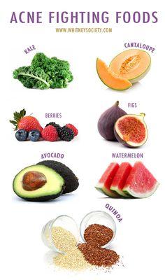 Meilleure nourriture pour l'acné