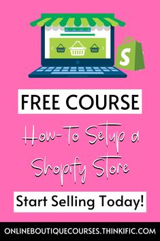 Learn how-to create your very own shopify store for free. This detailed guide will show you step by step how to setup your store for selling today. Grow your online business today with a great website. Business Tips, Online Business, Starting An Online Boutique, Building A Website, Free Courses, How To Get, How To Plan, Online Boutiques, Create Yourself