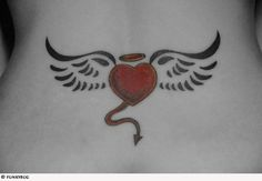 winged Heart tattoos | Winged Heart Tattoos