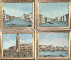 A SET OF FOUR NORTH ITALIAN REVERSE GLASS PAINTINGS  VENICE, PROBABLY LATE 18TH CENTURYhttp://www.christies.com/