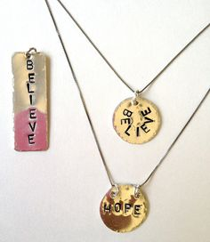 Believe or Hope Personalized Necklace by Bybella on Etsy, $42.00