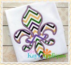 Baby Kay's Appliques - Fleur De Lis 4x4, 5x7, 6x10, 8x8, $4.00 (http://www.babykaysappliques.com/fleur-de-lis-4x4-5x7-6x10-8x8/)