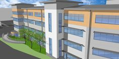 Sketchup Model Of Office Complex - Design House Berkhamsted