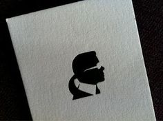 Karl Lagerfeld's business card