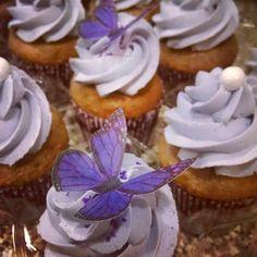 Lavender Cupcakes w/ Honey Buttercream