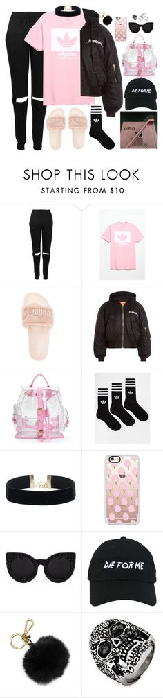 """""""comfy autumn"""" by moon-grrrl ❤ liked on Polyvore featuring Boohoo, adidas, Puma, Vetements, Casetify, Delalle, Nasaseasons, MICHAEL Michael Kors, West Coast Jewelry and Primrose"""