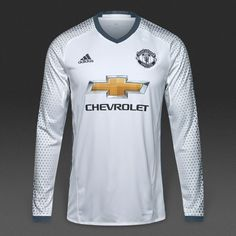adidas Manchester United 16/17 LS 3rd Shirt - White/Bold Onix