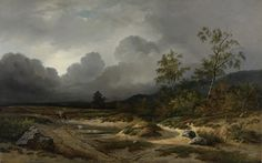 Willem Roelofs (I) | 1850 | Landscape with a Thunderstorm Brewing