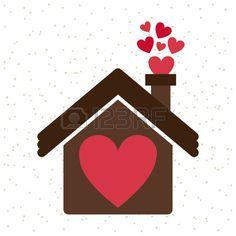 La casa del amor. Foto de archivo.