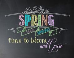 i should be mopping the floor: Fridays Freebie: Spring Has Sprung Chalkboard Printable