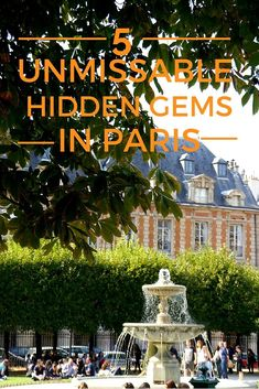 Paris may be one of the top tourist destinations in the world, however there are plenty of lesser known sights to explore. I used to live there and often get asked for my recommendations, so I'm sharing a list of 5 unmissable hidden gems in Paris and some nearby restaurants with you.