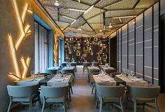 Designed by architect and set designer Maurizio Lai of Lai Studio in Milan, Taiyo Sushi Bar was inspired by a contemporary international image, and the visual identity of this sushi restaurant is one of strong impact. TAIYO MILANO_07