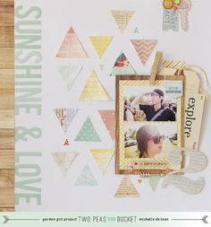 The Scrapbooking Chronicles of Portable Michelle: Sunshine & Love | Two Peas in a Bucket