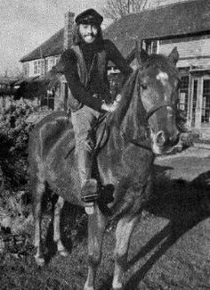 Maurice Gibb on a horse