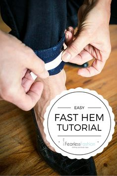 Are your favorite pair of jeans too long for those new shoes? Check out this fast and easy hem tutorial using fearless fashion tape. Get the perfect length every time! #fashionhack