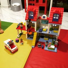 From another perspective, the #duplo city hospital with the ambulance #LegoForDads  (at Hougang Central)