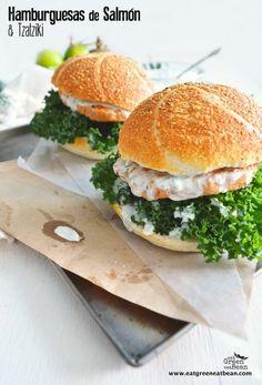 Hamburguesas de Salmón Deliciosas y super saludables