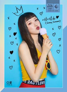 YERIN of G-Friend with the severe cut fringe (my Mum liked these cuts on me! Gfriend Album, Sinb Gfriend, Gfriend Sowon, Kpop Girl Groups, Korean Girl Groups, Kpop Girls, Seulgi, Gfriend Profile, E Sport