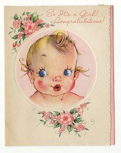 Vintage Greeting Card c1946-1947