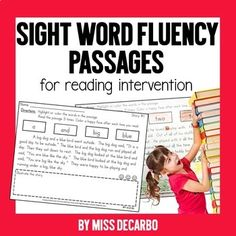"This reading intervention packet contains fluency passages that are JAM-PACKED with sight words. Each passage focuses on 4 ""target"" sight words. Implementing the intervention is EASY! Reading Fluency, Reading Intervention, Reading Passages, Guided Reading, Teaching Reading, Word Reading, Teaching Ideas, Teaching Tools, Teaching Resources"
