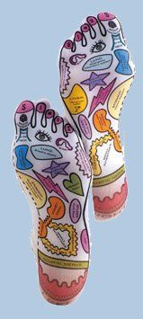 Amazon.com: Basic Knead Reflexology Sox - Form Fitting Foot Socks for Massage Therapy: Health & Personal Care