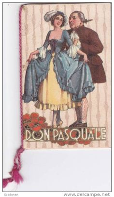 CALENDARIO CALENDARIETTO TASCABILE DON PASQUALE DONIZETTI 1936 BARI